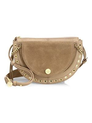 SEE BY CHLOE Kriss Small Grained Leather & Suede Crossbody