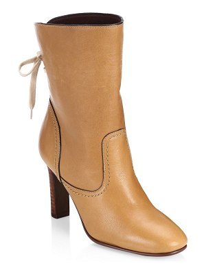 See By Chloe lara tan lace-up boots
