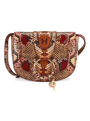 See By Chloe mini hana snake-print leather saddle bag