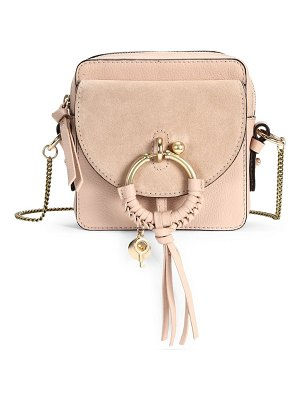 See By Chloe mini joan suede & leather crossbody bag