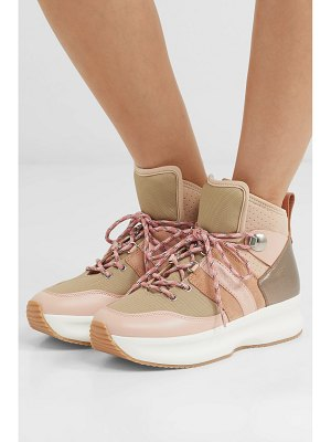 See By Chloe nicole canvas, leather and suede high-top sneakers