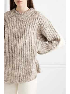 See By Chloe oversized ribbed two-tone knitted sweater