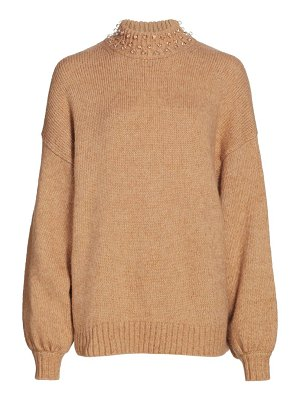 See By Chloe pearly knit oversized wool-blend sweater