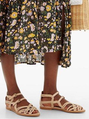 See By Chloe plaited-strap caged leather sandals