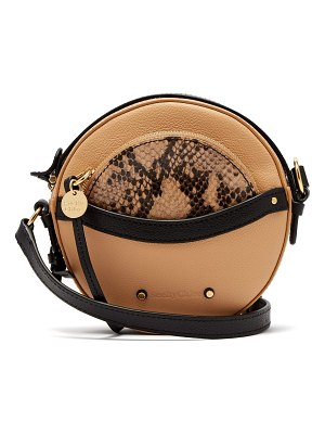 See By Chloe Rosy circular mini leather cross-body bag