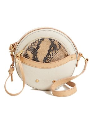 See By Chloe rosy mini leather crossbody bag with faux snakeskin