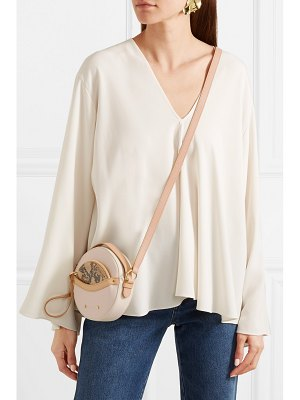 See By Chloe rosy textured and snake-effect leather shoulder bag