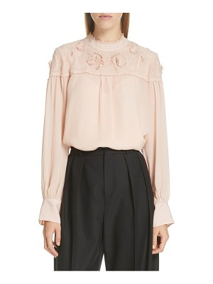 See By Chloe ruffle lace blouse
