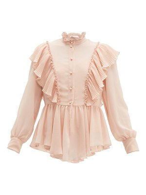 See By Chloe ruffled georgette blouse