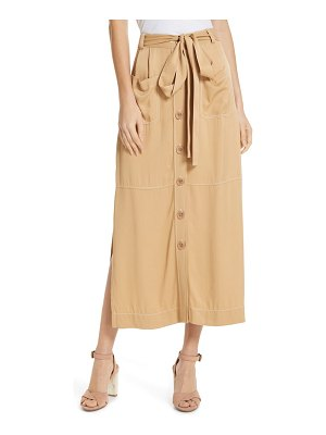 See By Chloe side slit button front midi skirt