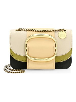 See By Chloe small hopper leather colorblock crossbody bag