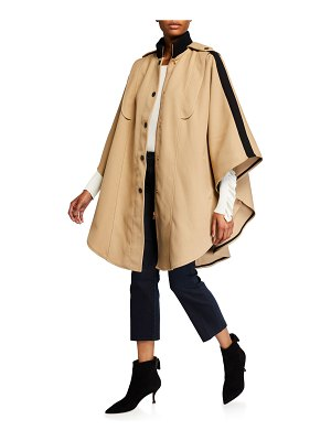 See By Chloe Snap-Front Cape Coat
