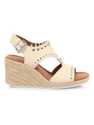 See By Chloe yuna whipstitch leather espadrille wedge sandals