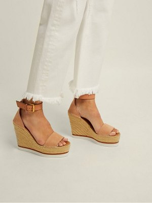 See By Chloe suede espadrille wedge sandals