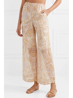 See By Chloe tiger-print silk-georgette wide-leg pants