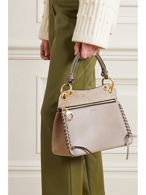See By Chloe tilda whipstitched leather and suede shoulder bag