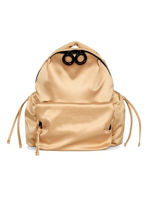 See By Chloe tilly logo-embroidered satin backpack
