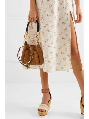 See By Chloe tony small textured-leather and suede bucket bag