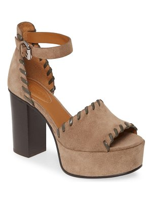 See By Chloe whipstitch platform ankle strap sandal