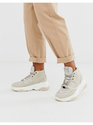 Selected femme hightop hiker sneaker-cream