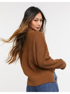 Selected femme sweater in brown