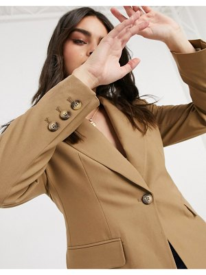 Selected femme tailored blazer in tan