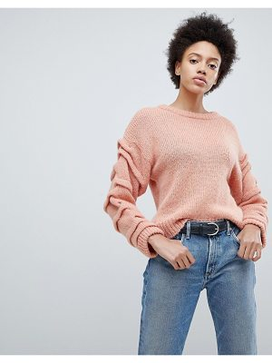 Selected femme knitted sweater with sleeve detail