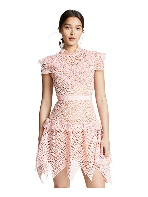 SELF-PORTRAIT abstract triangle lace dress