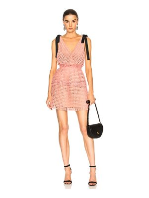 SELF-PORTRAIT Cutwork Mini Dress