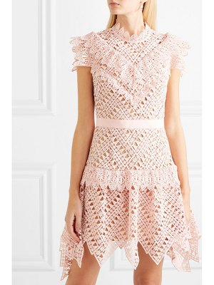 SELF-PORTRAIT guipure lace mini dress