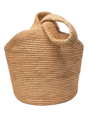 Sensi Studio Pullthrough Woven Straw Top-Handle Bag