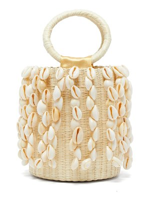 Sensi Studio x loulou de saison shell fringed straw bucket bag