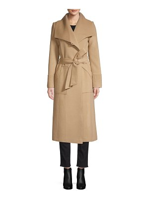 Sentaler long wide-collar alpaca wrap coat