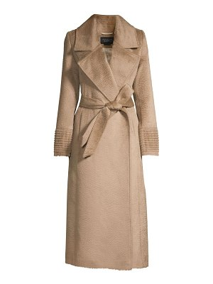 Sentaler notch collar wrap coat