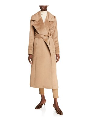 Sentaler Oversized-Collar Wrap Suri Alpaca Coat