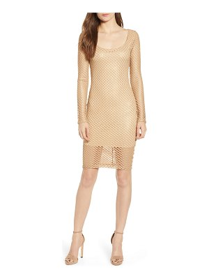 Sentimental NY mesh sheath dress
