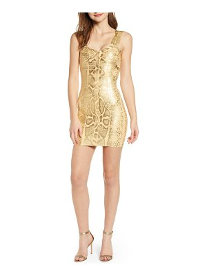 Sentimental NY metallic bandage body-con dress