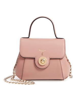 SERAPIAN MILANO mini gina leather top handle satchel