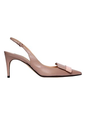 Sergio Rossi 75mm sr1 slingback leather pumps