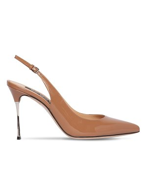 Sergio Rossi 90mm patent leather sling back pumps
