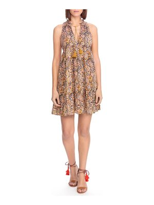 Sezane arielle paisley a-line dress