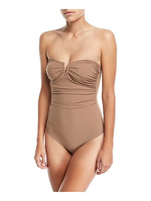 Shan Les Essentiels Bandeau Notched One-Piece Swimsuit