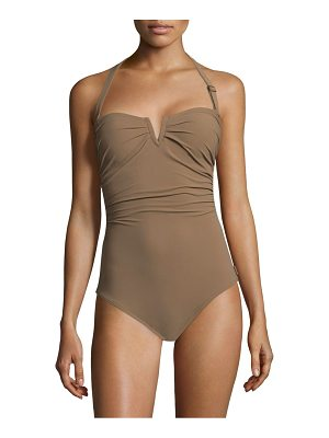Shan one-piece les essentiels halter swimsuit