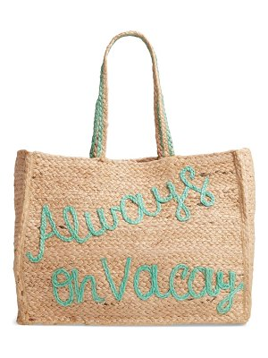 Shiraleah always on vacation jute tote