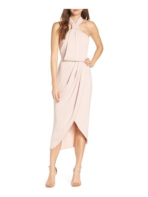 Shona Joy knotted tulip hem midi dress