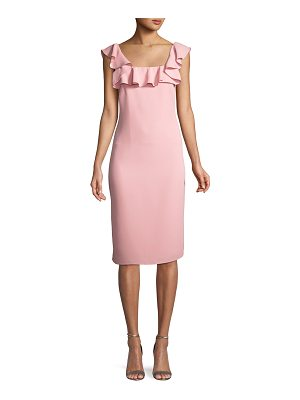 Shoshanna Abril Ruffle-Trim Sheath Dress