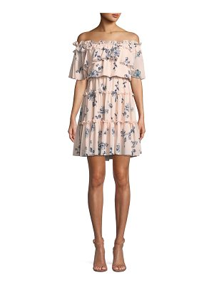 Shoshanna Lora Floral Off-the-Shoulder Mini Dress