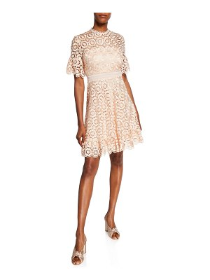 Shoshanna Marrakech Sora Daisy Lace Short-Sleeve Dress