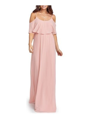 SHOW ME YOUR MUMU Caitlin Cold Shoulder Chiffon Gown