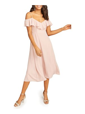 Show Me Your Mumu camilla ruffle neck tea length dress